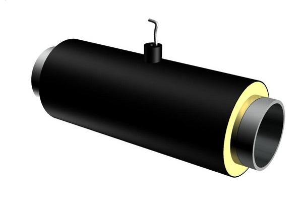 Элемент трубопровода с кабелем вывода ППУ ПЭ